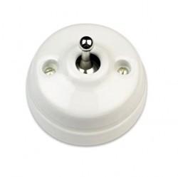 Кнопка тумблерная Fontini DIMBLER, хром/белый, 60312442