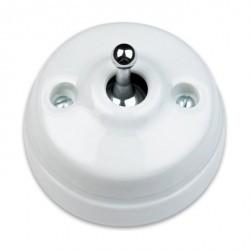 Кнопка тумблерная Fontini DIMBLER, хром/белый, 60312642