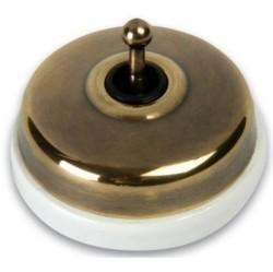 Выключатель тумблерный двухполюсный Fontini DIMBLER, античная бронза, 60314572