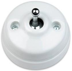 Выключатель тумблерный двухполюсный Fontini DIMBLER, хром/белый, 60314642