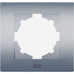 Рамка 1 пост ABB COSMO, алюминий, 612-011000-271