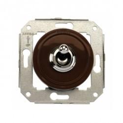 Выключатель тумблерный Fontini VENEZIA, хром/коричневый, 65306522