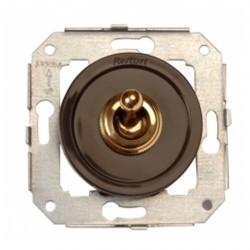 Выключатель тумблерный двухполюсный Fontini VENEZIA, бронза/коричневый, 65314572