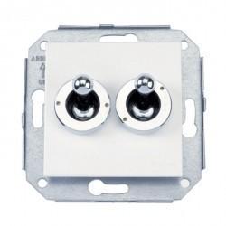 Выключатель тумблерный 2-клавишный кнопочный Fontini F37, бронза/коричневый, 67345572