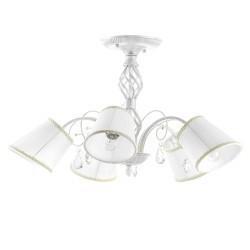 Lightstar (Sx1115-5) Люстра ESEDRA 5x40W E27 ANTIC WHITE  ткань, 682056