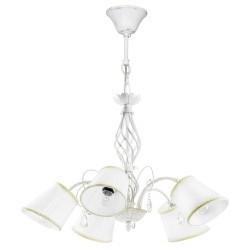 Lightstar (SD1115-5) Люстра ESEDRA 5x40W E27 ANTIC WHITE  ткань, 682156