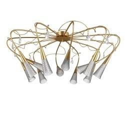 Lightstar  (SX1105/12)  Люстра AEREO 12х25W G9 gold foil, 711123