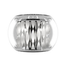 Lightstar (MB7602-3А) Бра ACQUARIO 3х20W G4 ХРОМ БЕЛ стекло, 752634