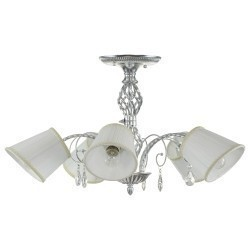 Lightstar (SX1115-5) Люстра ESEDRA 5x40W E27 SILVER FOIL ткань, 796059