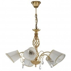 Lightstar (SD1115-5) Люстра ESEDRA 5x40W E27 GOLD FOIL ткань, 796153