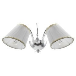 Lightstar (SB1115-2) Бра ESEDRA 2x40W E27 SILVER FOIL ткань, 796629