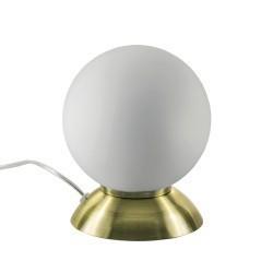 Lightstar (MT5092-1EB)  Настольная лампа GLOBO 1х40W  E14 electroplating bronze/white, 813911