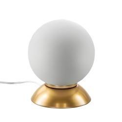 Lightstar (MT5092-1JS)  Настольная лампа GLOBO 1х40W  E14 gold/white, 813912