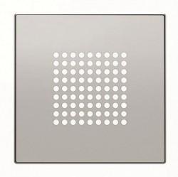 SKY Накладка для механизма зуммера 8119, звонка 8124 и громкоговорителя 9329, серебристый алюминий