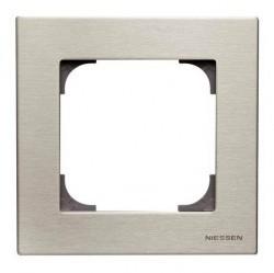 Рамка 1 пост ABB SKY, нержавеющая сталь, 2CLA857100A1401