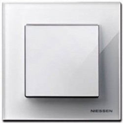 Рамка 1 пост ABB SKY, альпийский белый, 2CLA857100A1101