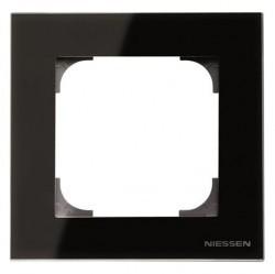 Рамка 1 пост ABB SKY, черное стекло, 2CLA857100A3101