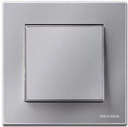 Рамка 1 пост ABB SKY, серебристый, 2CLA857100A1301