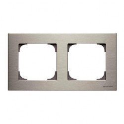 Рамка 2 поста ABB SKY, нержавеющая сталь, 2CLA857200A1401