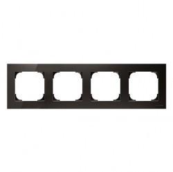 Рамка 4 поста ABB SKY, черное стекло, 2CLA857400A3101