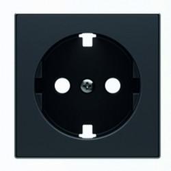 Накладка на розетку ABB SKY, с заземлением, бархатный, 2CLA858890A1501