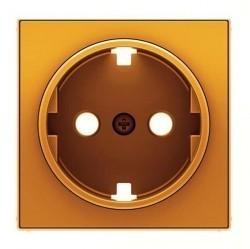 Накладка на розетку ABB SKY, с заземлением, оранжевый, 2CLA858890A1001