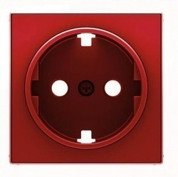Накладка на розетку ABB SKY, с заземлением, красный, 2CLA858870A1001