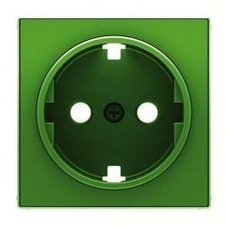 Накладка на розетку ABB SKY, с заземлением, зеленый, 2CLA858880A1001