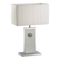 Lightstar (PD3088-WH) Настольная лампа FARAONE 1х60W E27 КОЖА/БЕЛЫЙ/ХРОМ, 870936