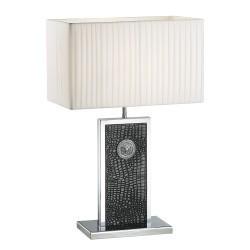 Lightstar (PD3088-BL) Настольная лампа FARAONE 1х60W E27 КОЖА/ЧЕРНЫЙ/ХРОМ, 870937