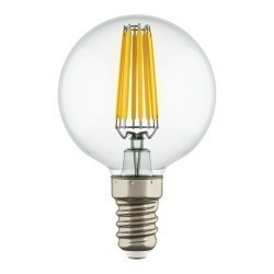 Lightstar Лампа LED FILAMENT 220V G50  E14 6W=65W 400-430LM 360G CL 2800K 30000H, 933802