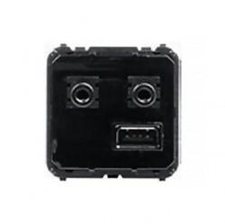 Механизм розетки USB+mini-jack ABB ZENIT, 9368.3