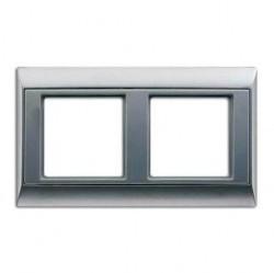 Рамка 2 поста Jung A 500, алюминий, A582AL