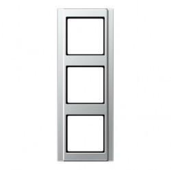 Рамка 3 поста Jung A 500, алюминий, A583AL