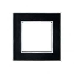 Рамка 1 пост Jung A CREATION, черное стекло, AC581GLSW