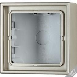 LSmetal Коробка 1-ная для накладного монтажа,алюм.