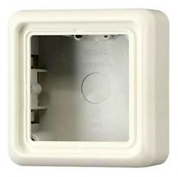 A500 Коробка 1-ная для накладного монтажа с рамкой, бел.