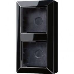 A500 Коробка 2-ная для накладного монтажа чёрн.