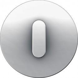 Накладка на поворотный выключатель Berker R.CLASSIC, белый блестящий, 10012089
