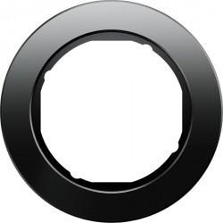 Рамка 1 пост Berker R.CLASSIC, черное стекло, 10112016