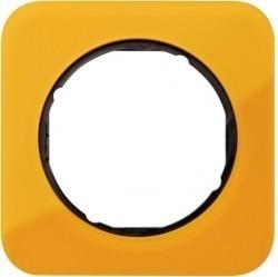 Рамка 1 пост Berker R.1, оранжеевый акрил, 10112334