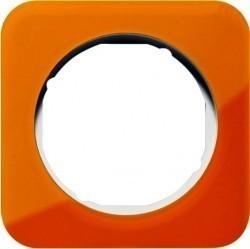 Рамка 1 пост Berker R.1, оранжеевый акрил, 10112339