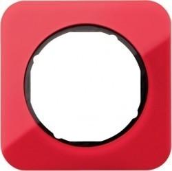 Рамка 1 пост Berker R.1, красный акрил, 10112344