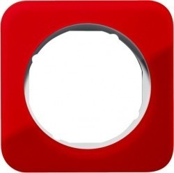 Рамка 1 пост Berker R.1, красный акрил, 10112349