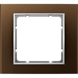 Рамка 1 пост Berker B.3, алюминиевый коричневый, 10113021