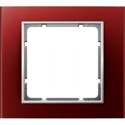 Рамка 1 пост Berker B.3, алюминиевый красный, 10113022