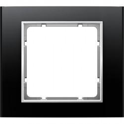 Рамка 1 пост Berker B.3, алюминиевый черный, 10113025