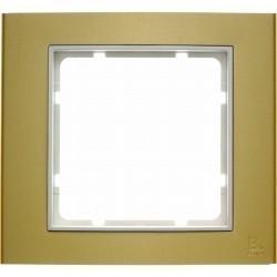 Рамка 1 пост Berker B.3, золото светлое, 10113046