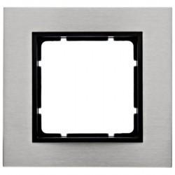 Рамка 1 пост Berker B.7, нержавеющая сталь, 10113606