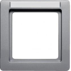 Рамка 1 пост Berker Q.1, алюминий бархатный, 10116014